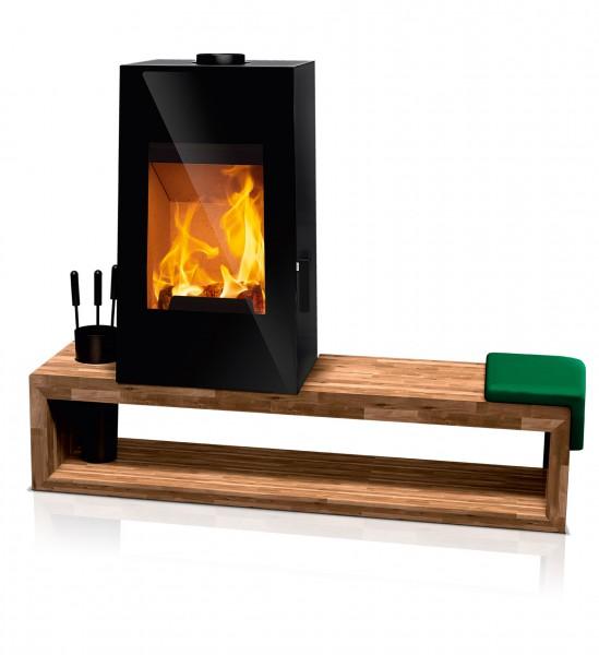 rika look holzsitzbank kaminofen kaminsales24 kamine. Black Bedroom Furniture Sets. Home Design Ideas